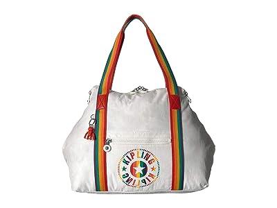 Kipling Art M Tote (Rainbow White) Tote Handbags