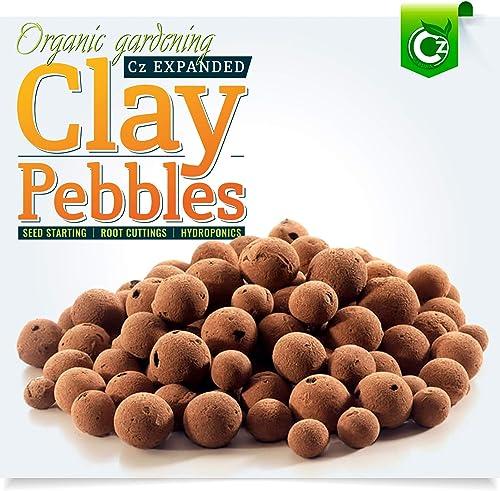 Organic Expanded Clay Pebbles Grow Media - Orchids • Hydroponics • Aquaponics • Aquaculture Cz Garden (2 LBS Cz Garde...