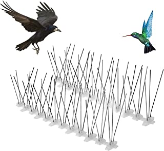 Flantor Stainless Steel Bird Spikes Kit,DIY Bird Repellent Anti-Climb Security Spikes for Cats Birds and Other Small Animals
