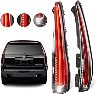 MOSTPLUS LED Tail Lights Rear for Cadillac Escalade 2007-2014 ESV Red Rear Lamp