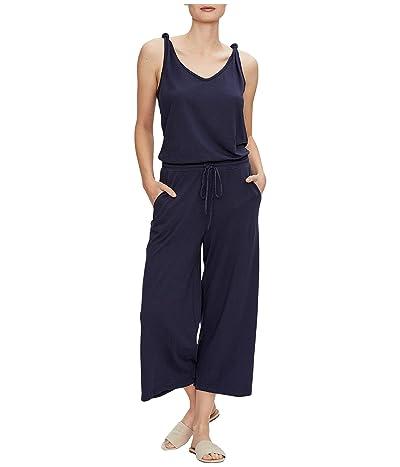 Michael Stars Nicollette Cotton Modal Cropped Jumpsuit w/ Knot Straps (Admiral) Women