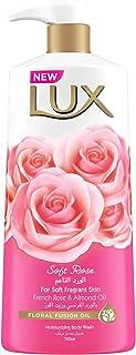 لوكس غسول للجسم معطر برائحة الورد المنعش، 700 مل