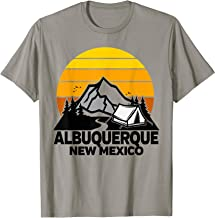 Albuquerque New Mexico Camping Retro Sunrise Mountains T-Shirt