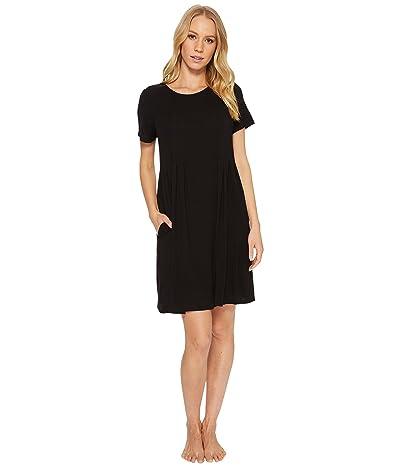 Donna Karan Modal Spandex Jersey Sleepshirt (Black) Women