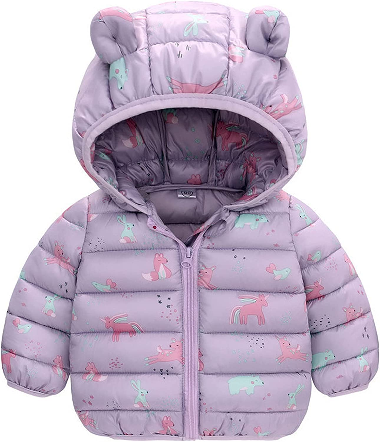 DOAEGNG Toddler Baby Special sale item Girls Boys Winter C Hooded National products Outerwear Jacket