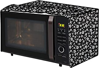 The Furnishing Tree Microwave Oven Cover for IFB 30 L Convection 30FRC2 Floral Pattern Black