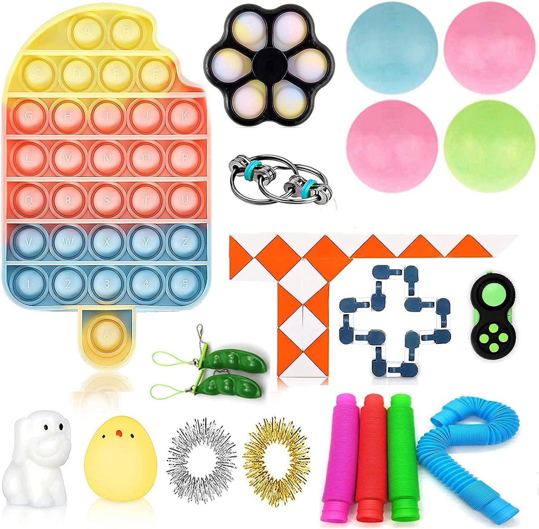 YHLO Fidget Toys Set 20 Pack Sensory for Reducing Superlatite Save money