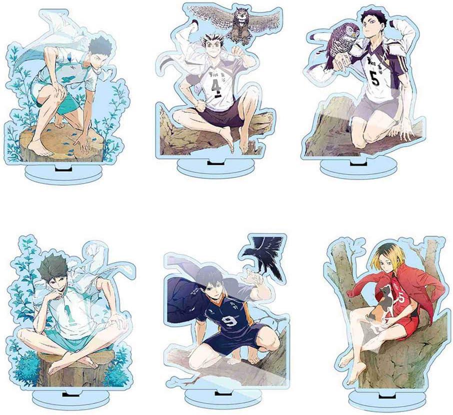 Style 01 St.Mandyu Anime Haikyuu! Display Desk Stand Humanoid Transparent Acrylic Decorative Action Figure Cartoon Character Image Bracket Collection Decoration 13cm