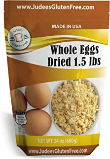 Judee's Whole Egg Powder (24 OZ -1.5 lb) (Non-GMO, Pasteurized, Made in USA, 1 Ingredient no additives, Produced from the Freshest of Eggs)(50 lb Bulk Size Available)