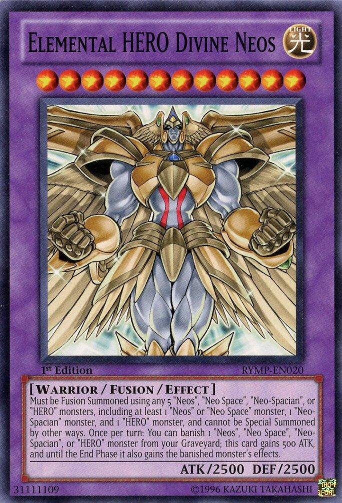 Yu-Gi-Oh! - Elemental HERO Divine Neos (RYMP-EN020) - Ra Yellow Mega-Pack - 1...: Amazon.es: Juguetes y juegos