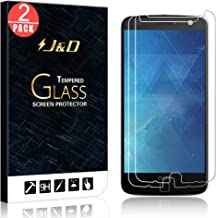 J&D Compatible for 2-Pack Moto Z Droid Glass Screen Protector, [Tempered Glass] [Not Full Coverage] HD Clear Ballistic Glass Screen Protector for Motorola Moto Z Droid Screen Protector