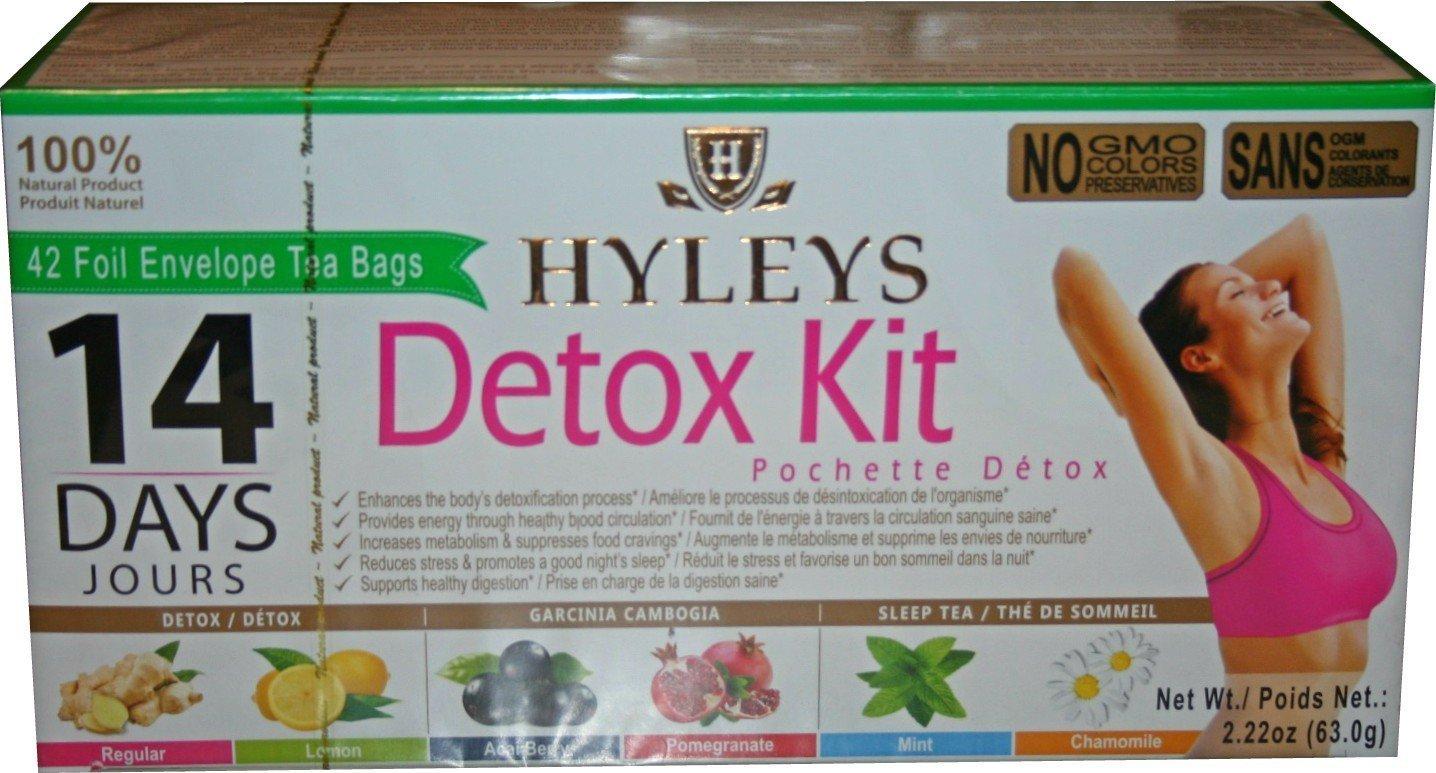 Hyleys 100 Natural 14 Day Detox Kit Detox Slim Sleep Tea Set