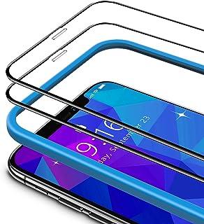 TAMOWA (2-pack skärmskydd för iPhone 11 Pro/iPhone X/iPhone XS (5,8 tum), 3D helskärm premium härdat glasskydd 9H okrossba...