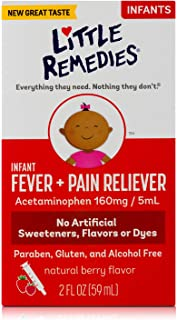 Best LittleRemedies Infant Fever & Pain Reliever withAcetaminophen| Berry| 2 FL OZ Review