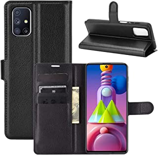 "Capa Capinha Carteira 360 Para Samsung Galaxy M51 com Tela de 6.6"" polegadas - Case Couro Flip Wallet Anti Impacto - Danet..."