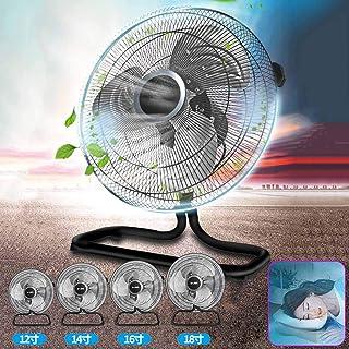 35-50cm 工場扇 床置型 スピンナー式,フロア扇 アルミ製 扇風機 大型 業務用 工場扇 工業扇 扇風機 据置き型 ブラック,アルミ羽根 3段階風量 簡単取付 高さ45-62 Cm