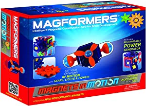 Magformers Magnets in Motion Power Accessory Set (27-Pieces) Magnetic Building Blocks, Educational Magnetic Tiles Kit , Ma...