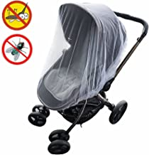 KIMYO Full Cover Baby Mosquito Net for Strollers Portable Durable & long lasting Insect Netting-universal white