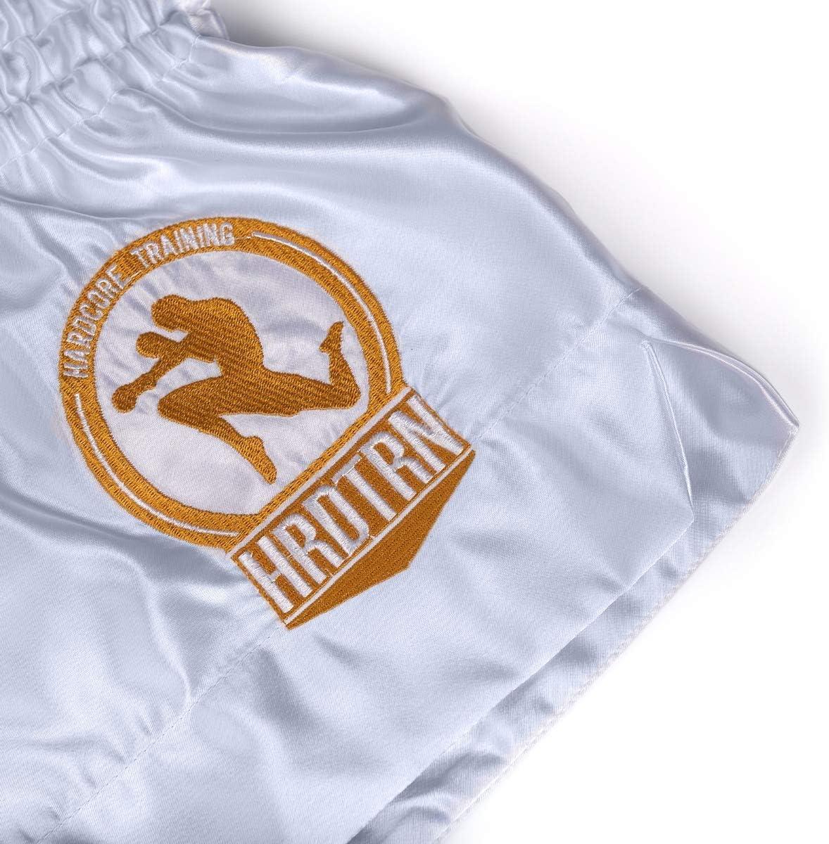 Hardcore Training Classiс Muay Thai Short Boxe Homme Noir Blanc Bleu Rouge Kickboxing Sparring MMA Combat Thaiboxe