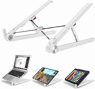 Portable Laptop Stand, SAIJI Monitor Riser, Adjustable Height & Angle Blocker, Foldable Standing Desk, Light-Weight Holder...