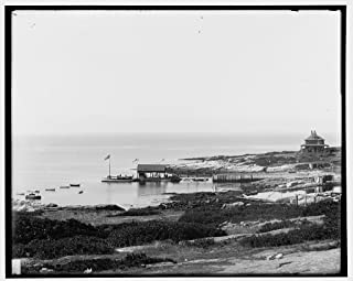 Vintography 16 x 20 Ready to Hang Canvas Wrap Appledore House Hotel and Cottages Isles of Shoals N H i e Maine 1901 Detriot Publishing 86a