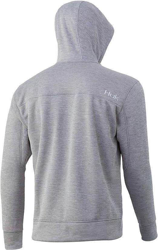 Huk Men/'s Fin Tech Full Zip Hannibal Bank XXX-Large Fishing Hoodie Sweatshirt