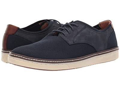 Johnston & Murphy McGuffey Plain Toe Knit Sneaker (Navy Knit/Nubuck) Men