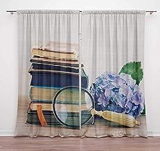 Timingila Multicolor Photo & Camera Vintage Home Decoration Window Curtains Rod Pocket Drapes for Living Room Door Curtain...