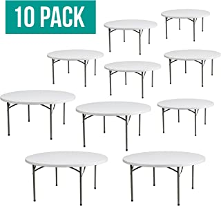 EventStable TitanPRO Plastic Folding Table - 60'' Round - 10 Pack