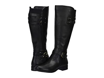 Naturalizer Jackie Wide Calf (Black Leather) Women