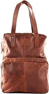 LECONI Rucksack retro Lederrucksack Freizeitrucksack Vintage-Look Wanderrucksack backpack modern für Damen & Herren echtes Leder 28x37x13cm LE1019