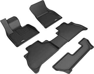 3D MAXpider BMW X5 (G05) 7-Passenger 2019-2020 Custom Fit All-Weather Car Floor Mats Liners, Kagu Series (1st, 2nd & 3rd R...