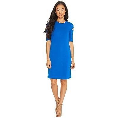 Calvin Klein Arm Cut Out Short Sleeve Sheath Dress (Capri) Women