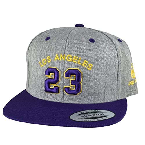 612fb1f13c7be9 Los Angeles Player LAbron  23 Snapback Cap Custom Embroidery Baseball Hat