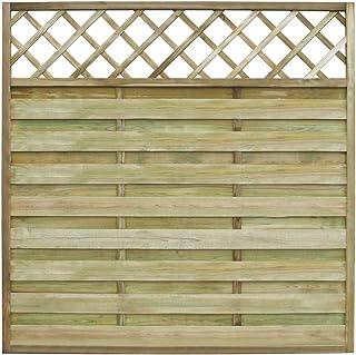 Festnight Valla de Madera Panel Cuadrado para Jard¨ªn 180 x 180 cm
