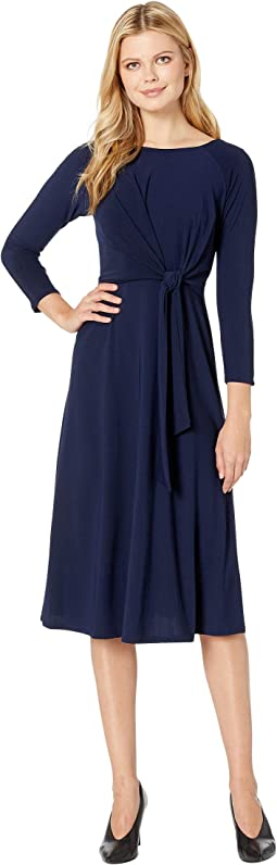 Bracelet Sleeve Front Knot Jersey Dress