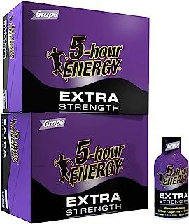 5-hour ENERGY Shot, Extra Strength Grape, 1.93 Ounce, 24 Count