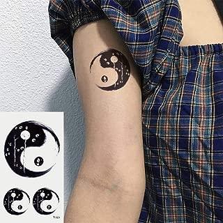 Oottati 2 Hojas Pequeño Lindo Tatuaje Temporal Tattoo Tai Chi ...