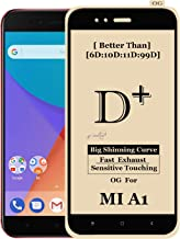 Xester ® [d-plus] screen protector compatible with Redmi Mi a1, 9h hardness, 6x stronger, installation frame, bubble free anti-fingerprint tempered glass edge to edge full screen coverage