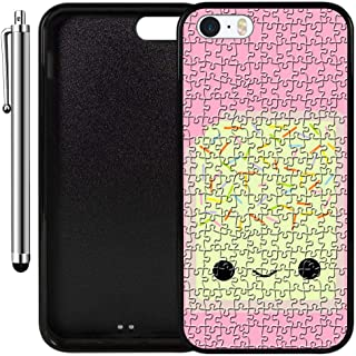 Custom Case Compatible with iPhone SE, iPhone 5S (Kawaii Pop Tart) Edge-to-Edge Rubber Black Cover Ultra Slim | Lightweight | Includes Stylus Pen by Innosub