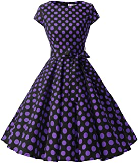 ec0939d20f Dressystar Women Vintage 1950s Retro Rockabilly Prom Dresses Cap-Sleeve