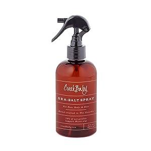 CreekBaby Organic Sea Salt Spray for Face, Body, and Hair, Toner for Acne, Rosacea and Hair Volumizer
