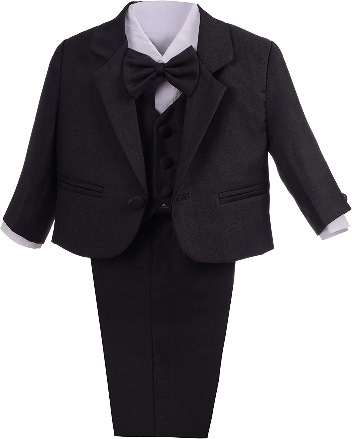 Lito Angels Baby Boys Formal Dress Suits Classic Fit Wedding Suits Outfit 5 Piece Set
