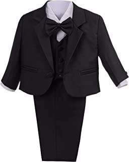 Dressy Daisy Baby Boys Formal Dress Suits Wedding Suits Outfit Classic Fit 5 Pcs Set