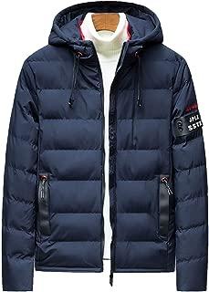 Autumn Men Casual Hooded Thermal Jacket Parka Coat Men Solid Waterproof Jackets Par,857-Black,4XL