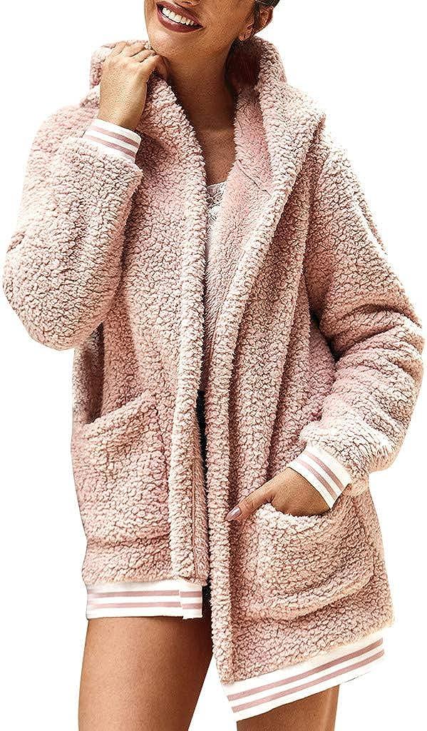 Women's Gorgeous Long 40% OFF Cheap Sale Sleeve Soft Chunky Front Open Sweater Fleece C