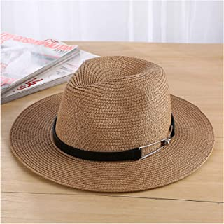 Summer Sea Sun Hat Men Casual Vacation Panama Straw Hat Women Wide Brim Beach Jazz Hats Foldable Chapeau