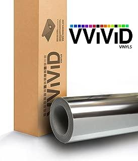 VViViD Gloss Chrome Silver Vinyl Wrap Adhesive Film Roll Air Release DIY Decal Sheet (17.9 Inch x 60 Inch)