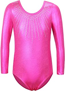 BAOHULU Gymnastics Leotards for Girls Shiny Jewels Kids Athletic Apperal Dance Outfit