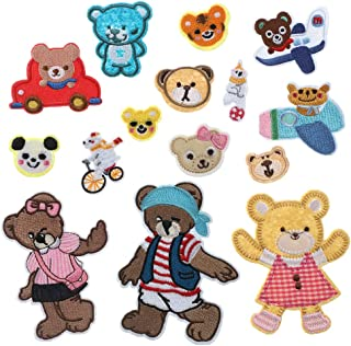 Soleebee Iron-on or Sew-on Patches Kids Embroidered Cute Patches Set